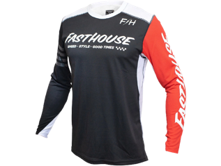 Fasthouse Race Jersey Red & White
